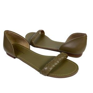 Talbots Leather Sandals Olive Green Size 9